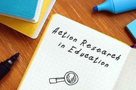 Action Research In Education inscription on the sheet.