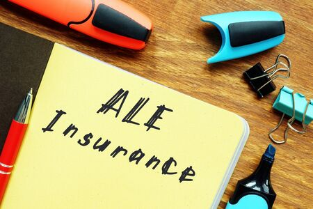 Additional Living Expense ALE Insurance  inscription on the page.