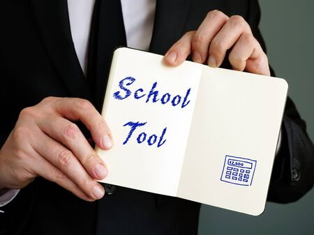 Educational concept about School Tool with inscription on the page. Фото со стока