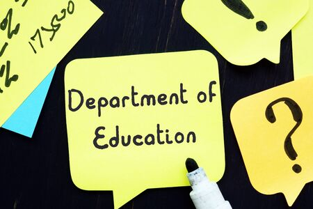 Educational concept about Department Of Education with inscription on the piece of paper.