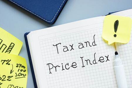 Financial concept about Tax And Price Index TPI with sign on the piece of paper. Imagens