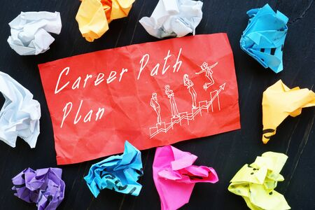 Business concept about Career Path Plan with inscription on the page.