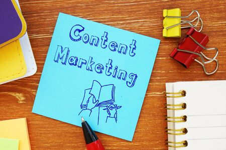 Content marketing inscription on the page.