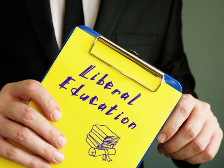 Business concept about Liberal Education with phrase on the page.