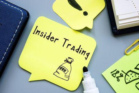 Business concept about Insider Trading with phrase on the page.