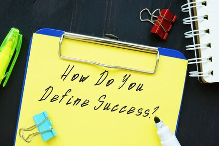 How Do You Define Success? inscription on the page.