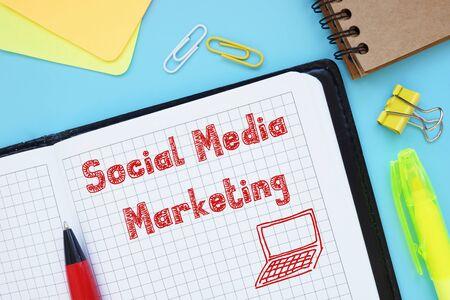 Social Media Marketing SMM inscription on the page.