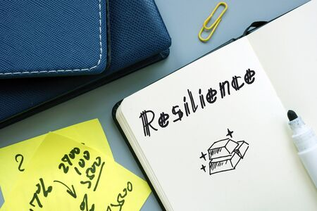 Resilience phrase on the page. Imagens