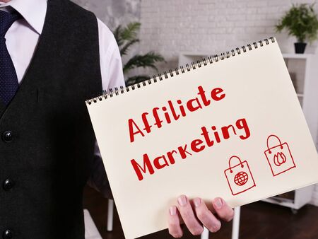 Affiliate Marketing inscription on the piece of paper.