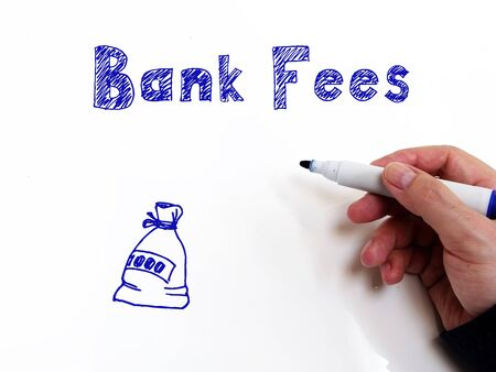 Financial concept about Bank Fees with sign on the page. Archivio Fotografico