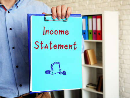 Business concept about Income Statement with inscription on the page.