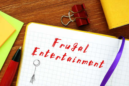 Frugal Entertainment sign on the sheet.