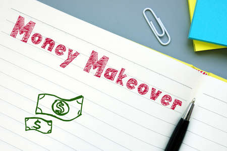 Financial concept meaning Money Makeover with inscription on the page. Stock Photo