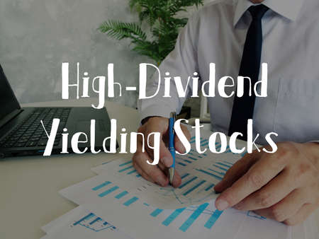 High-Dividend Yielding Stocks inscription on the page.