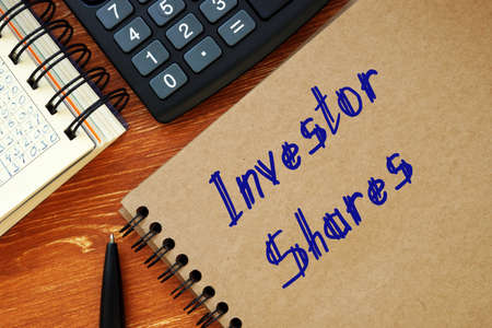 Conceptual photo about Investor Shares with written text.
