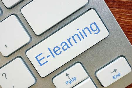 E-learning inscription on the sheet.