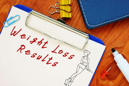 Weight Loss Results inscription on the page.