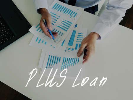 Conceptual photo about PLUS Loan with written text. Foto de archivo