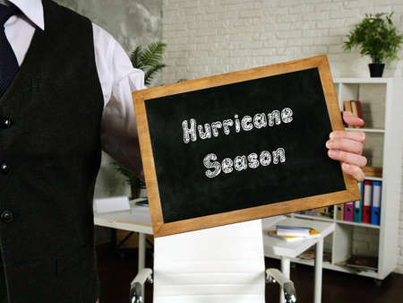 Financial concept meaning Hurricane Season with phrase on the sheet.