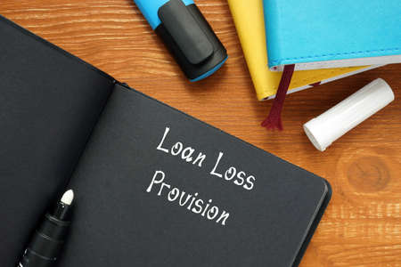 Business concept meaning Loan Loss Provision with phrase on the sheet.
