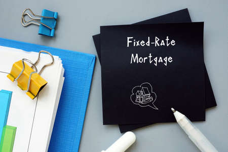 Financial concept meaning Fixed-Rate Mortgage with sign on the page.