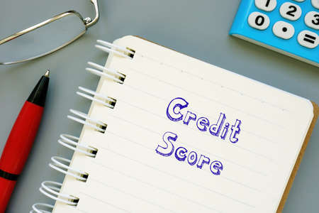 Business concept about Credit Score with phrase on the page.