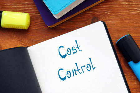 Cost Control sign on the piece of paper.