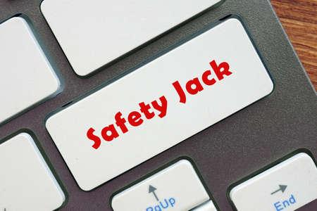 Safety Jack inscription on the sheet.