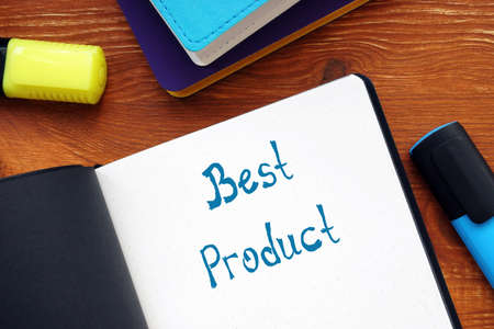 Conceptual photo about Best Product with handwritten text.