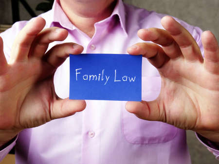 Family Law  sign on the sheet.