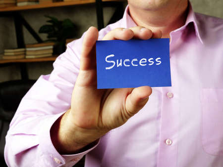 Success  phrase on the sheet.