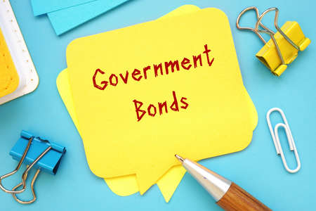 Business concept about Government Bonds with inscription on the sheet