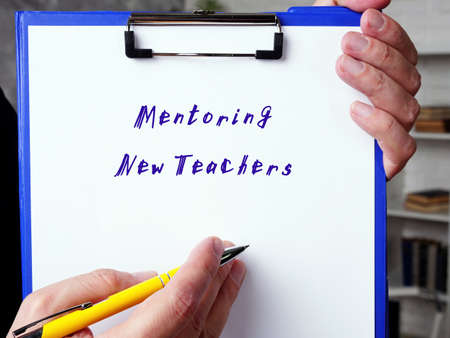 Mentoring New Teachers sign on the page.