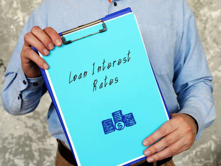 Business concept about Loan Interest Rates with inscription on the page.