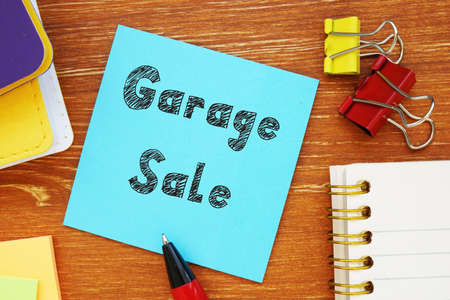 Financial concept about Garage Sale with phrase on the page.