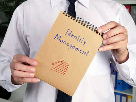 Motivational concept meaning Identity Management q with inscription on the sheet.