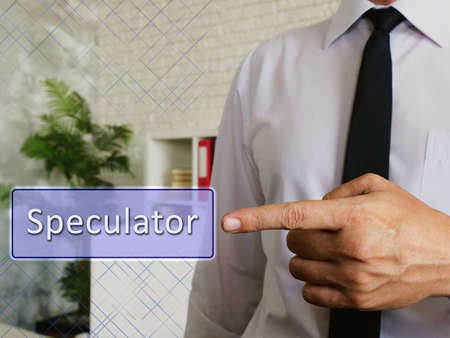Speculator phrase on the piece of paper.