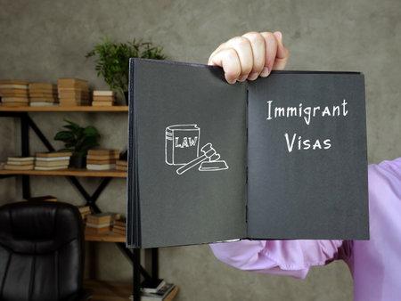 Immigrant Visas sign on the sheet. Reklamní fotografie