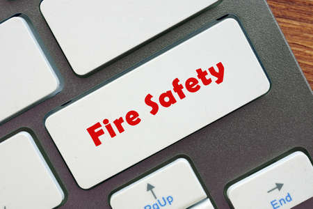 Business concept meaning Fire Safety with inscription on the page.
