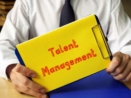 Conceptual photo about Talent Management with handwritten phrase.
