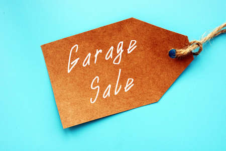 Business concept meaning Garage Sale with sign on the page.