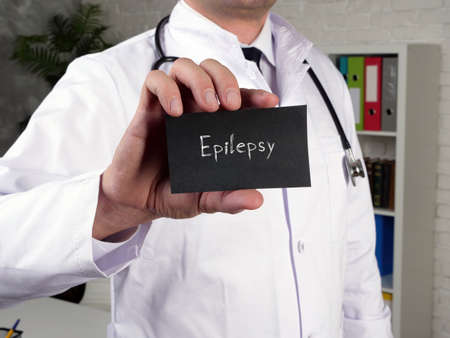 Medical concept about Epilepsy with sign on the page.