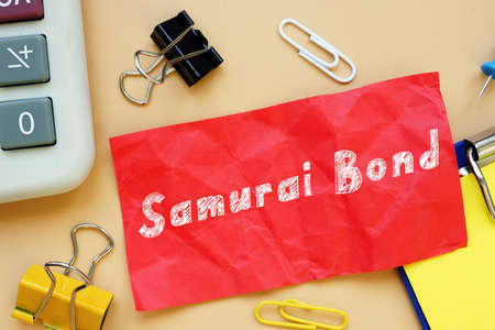 Business concept meaning Samurai Bond with inscription on the sheet.