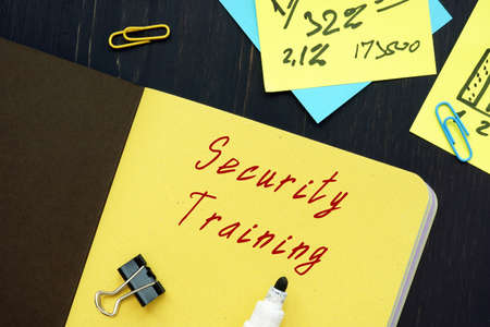 Financial concept about Security Training with sign on the page.