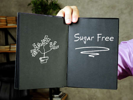 Sugar Free H inscription on the sheet. 写真素材