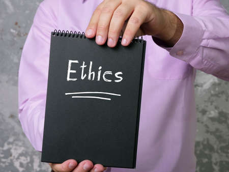 Business concept about Ethics with phrase on the sheet. Stock Photo