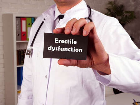 Conceptual photo about Erectile dysfunction impotence with written text.