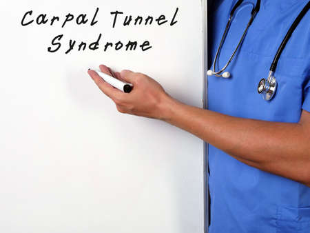 Medical concept about Carpal Tunnel Syndrome with inscription on the page. Reklamní fotografie
