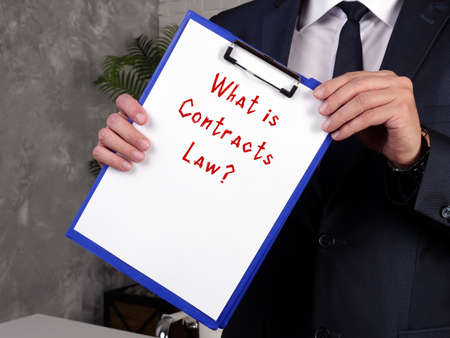 Juridical concept meaning Contracts Law? with phrase on the page.