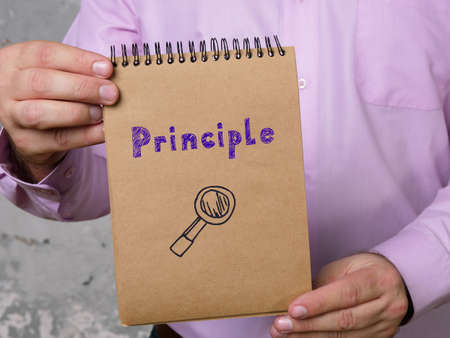 Business concept about Principle with phrase on the page.